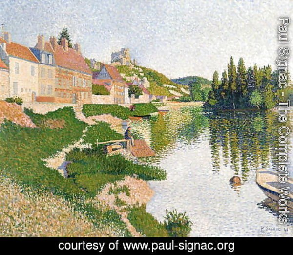 Paul Signac - The River Bank, Petit-Andely, 1886