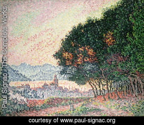 Paul Signac - Forest near St. Tropez, 1902