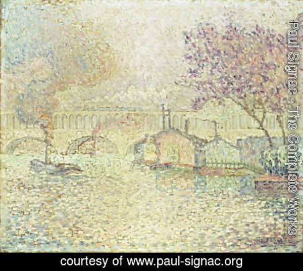 Paul Signac - The Viaduct at Auteuil, c.1900