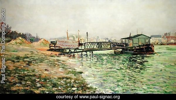 The Seine at Quai St. Bernard, c.1886