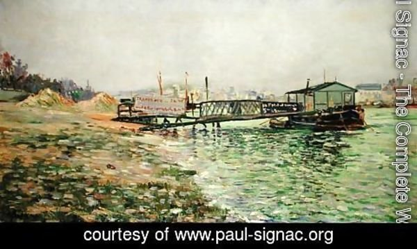 Paul Signac - The Seine at Quai St. Bernard, c.1886