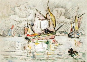 Paul Signac - Fishing Boats