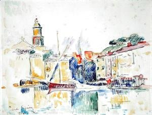 Paul Signac - French Port of St. Tropez, 1914
