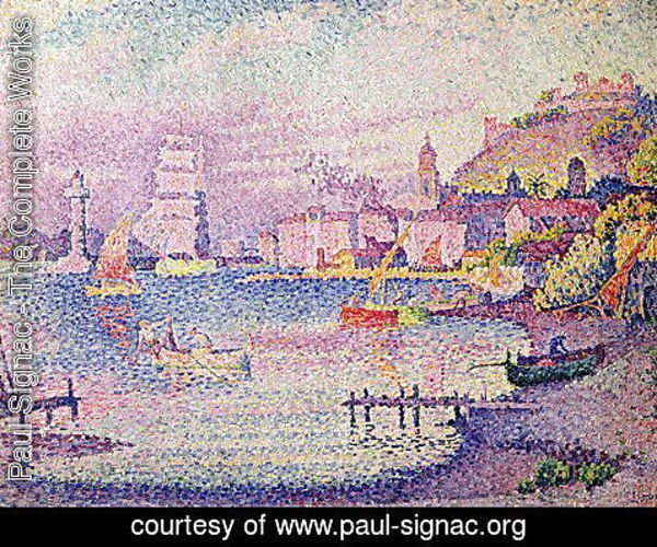 Paul Signac - Leaving the Port of Saint-Tropez, 1902