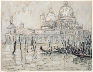 Paul Signac - Venice or, The Gondolas, 1908