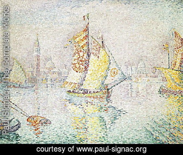 Paul Signac - The Yellow Sail, Venice, 1904