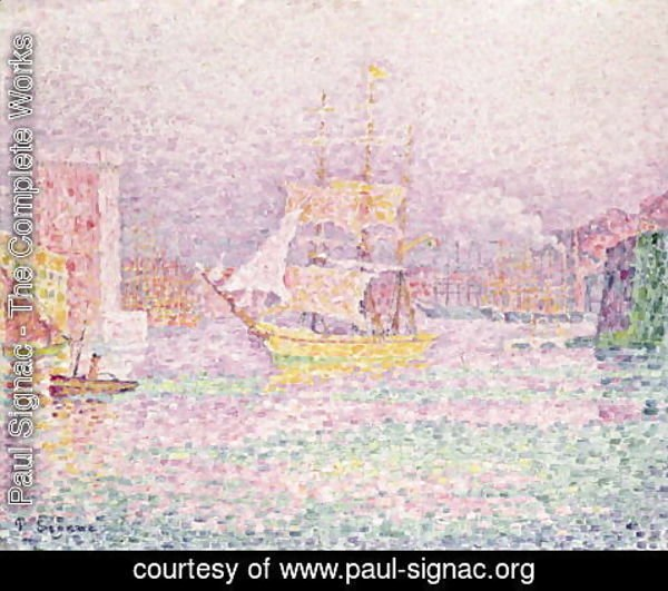 Paul Signac - Port of Marseille, 1906-07