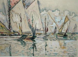 Paul Signac - Departure of Three-Masted Boats at Croix-de-Vie