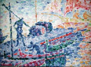 Paul Signac - The Port of St. Tropez, c.1901 (detail)