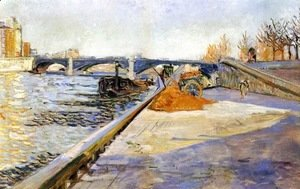 Paul Signac - Paris, Quai de la Tournelle, 1886