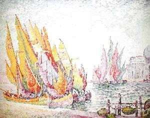 Paul Signac - Venice, Sailing Boats, 1908