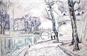 Paul Signac - Paris - River Scene