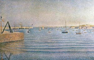 Paul Signac - The Harbour at Portrieux, 1888