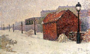 Paul Signac - Snow, Butte Montmartre, 1887