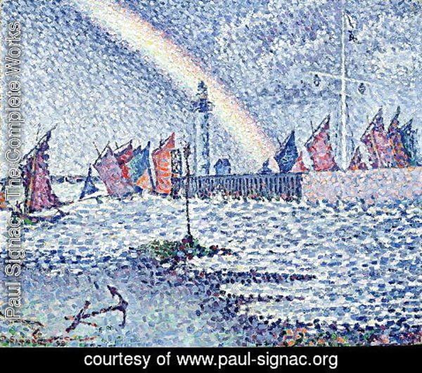 Paul Signac - Entrance to the Port of Honfleur, 1899