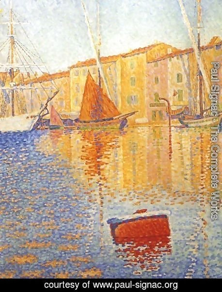 Paul Signac - The Red Buoy, Saint Tropez, 1895