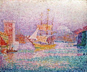 Paul Signac - Harbour at Marseilles, c.1906