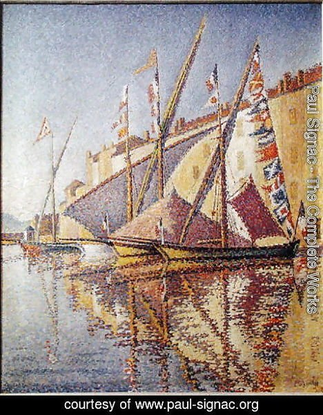Paul Signac - Sailing Boats in St. Tropez Harbour, 1893