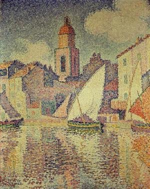 Paul Signac - The Clocktower at St. Tropez, 1896
