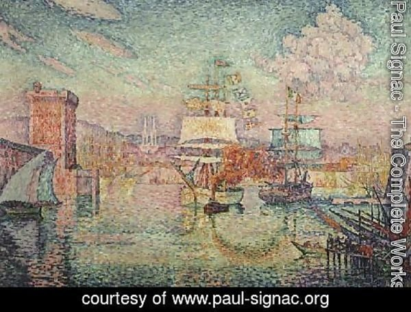 Paul Signac - Entrance to the Port of Marseille, 1918