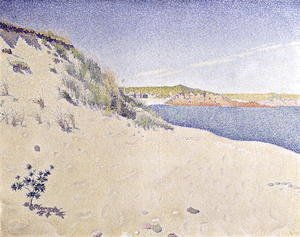 Paul Signac - Sandy Seashore, 1890
