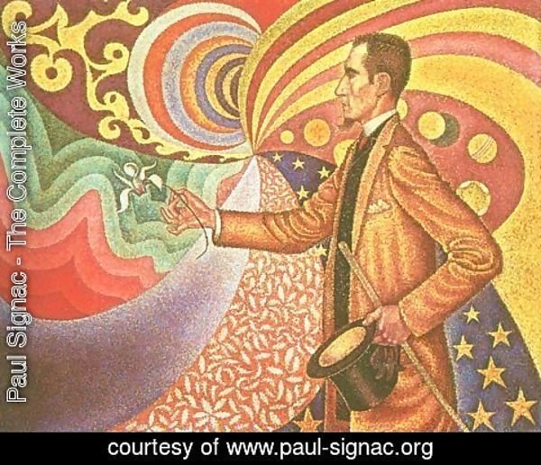 Paul Signac - Against the Enamel of Background Rhythmic with Beats and Angels, Tones and Tones and Colours, and a Portrait of Felix Feneon (1861-1944) 1890