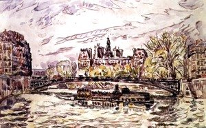 Paul Signac - Pont Louis-Phillipe, Paris, 1928