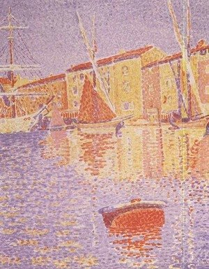 Paul Signac - Buoy, Port of St. Tropez, 1894