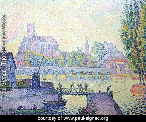 View of the bridge of Auxerre, 1902