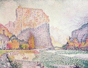 Paul Signac - The Cliffs at Castellane, 1902