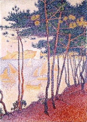 Paul Signac - Sailing boats and pine trees, 1896