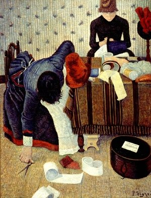Paul Signac - The Milliner, 1885