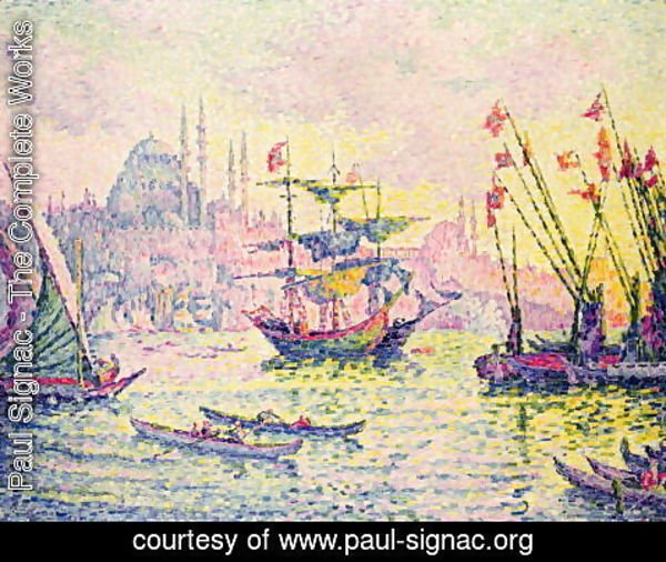 Paul Signac - View of Constantinople, 1907