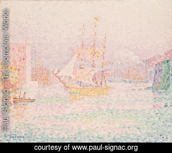 Paul Signac - The Harbour at  Marseille