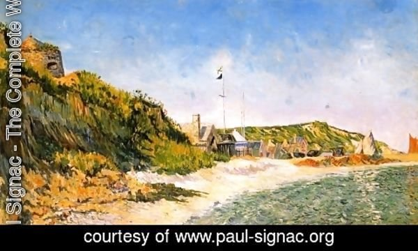 Paul Signac - Port-en Bessin, the Beach