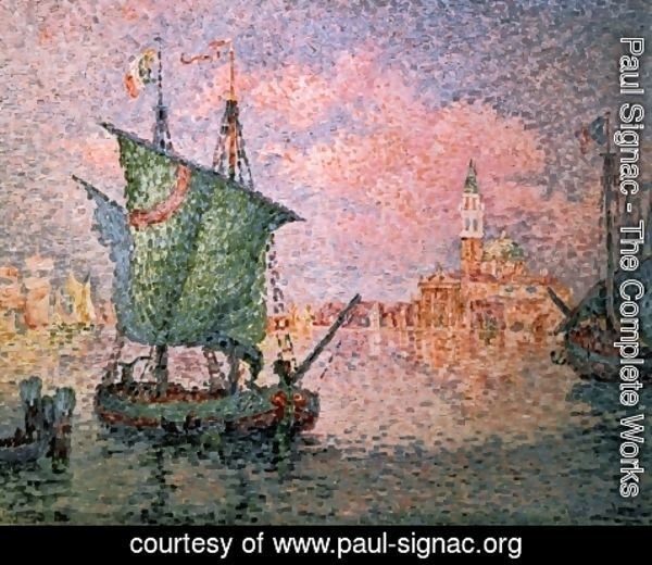 Paul Signac - Venice - The Pink Cloud