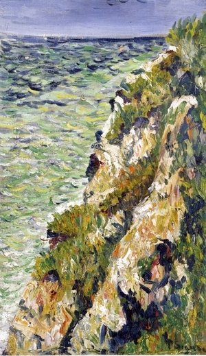 Paul Signac - Port-en-Bessin, a Cliff