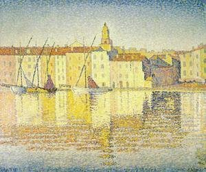 Paul Signac - Houses in the Port of Saint-Tropez