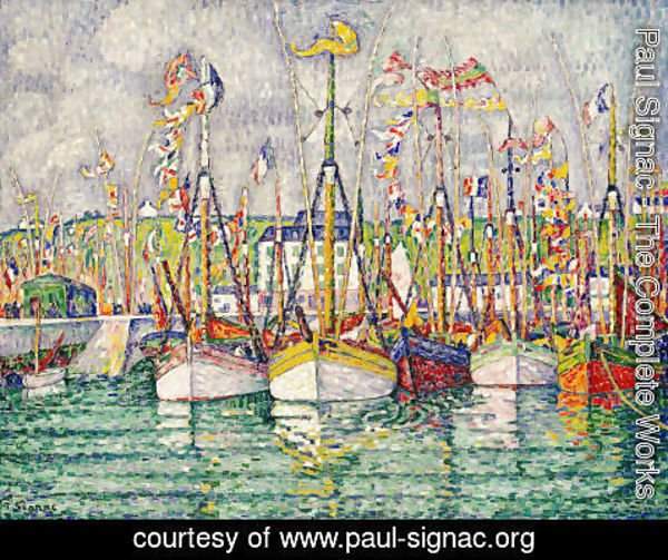 Paul Signac - Blessing of the Tuna Fleet at Groix 1923