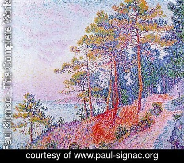 Paul Signac - Above Saint-Tropez, the Customs House Pathway