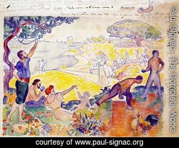 Paul Signac - At the time outline for harmony