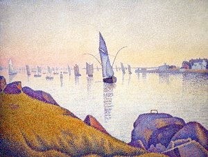 Paul Signac - Concarneau, Fishing Boats