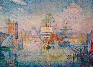 Paul Signac - Entrance to the Port of Marseilles