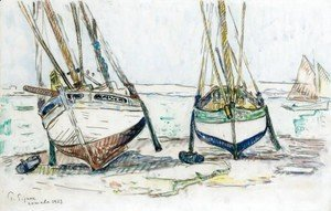 Paul Signac - Fishing boats, Lomalo