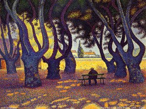 Paul Signac - Place des Lices, Saint-Tropez