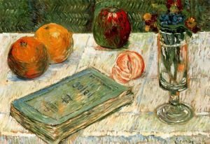 Paul Signac - Still Life with a Book