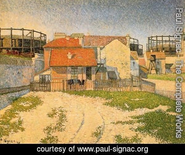 Paul Signac - The Gas Tanks at Chíchy