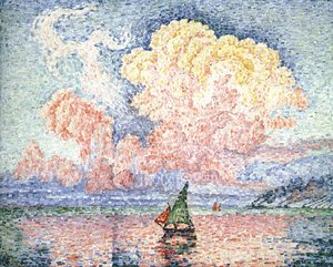 Paul Signac - The Pink Cloud, Antibes