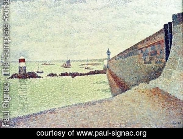Paul Signac - The Pier at Portrieux
