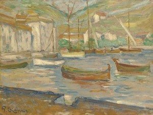 Paul Signac - Cassis. Le port